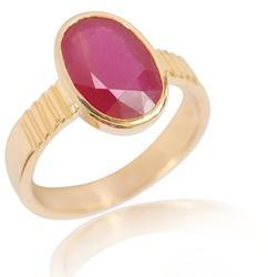 Ruby Ring With Natural Manik Stone Lab Certified
