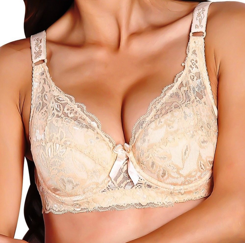 c309a426a9 TrendyCloset and Plain soft padded underwire lace demi cup bra in assorted  colour