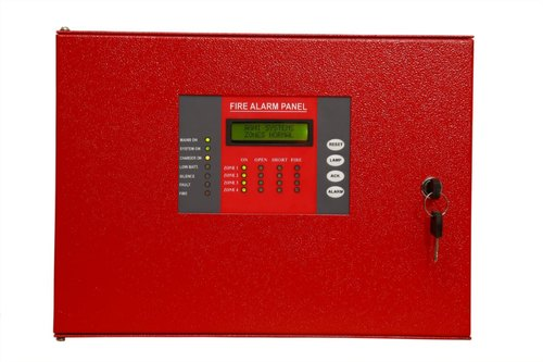 Red Fire Alarm Control Agni Conventional 2 Zone