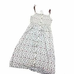 Cotton Casual Wear Girls Printed Frock, Age Group: 2 To 14 Years