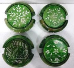 Green Coaster Set