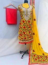 VPH Straight Phulkari Handwork Punjabi Suits