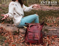 ebe2cfa9979f Znt Bags Leather Classy Retro Vintage Dapper Rucksack Backpack for Men and  Women
