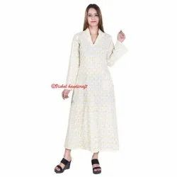 Women's Cotton Fabric Long Gown Dress