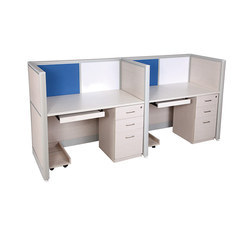 Two Seater Workstation With Padestral