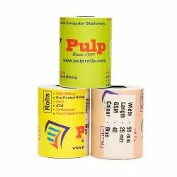 PULP POS Thermal Rolls 78 / 79 / 80 mm 50 GSM Black Impression 25 meter