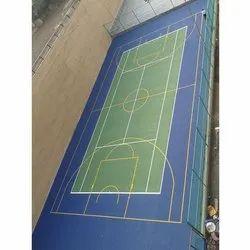 Outdoor Matte Synthetic Tennis Court Flooring