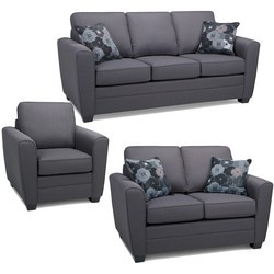 Leatherette Brown Corner Sofa Set