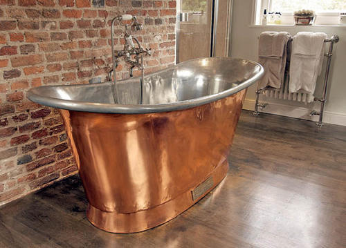 dark custom kitchen each bath person finish side tub with copper website rectangular collection spas freestanding two patina rests diamond on head fabricated baths bathtub soaking