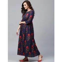 Stitched Gathers Printed Kurti