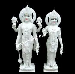 Vishnu Laxmi Marble Idol