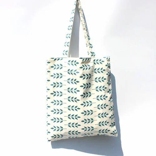 Printed Canvas Green Womens Bag fcf5aba433