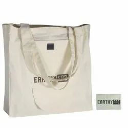 Printed Brown Cotton Foldable Shopping Bag., Size: 15X15 Inches, Capacity: 14 KG