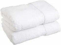 Plain Cotton White Bath Towel, For Bathroom, Size: 27*54