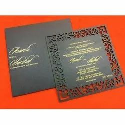 Pull-Out Insert Royal Laser Cut Wooden Wedding Card