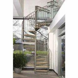 Circular, Spiral Cast Iron Spiral Stairs