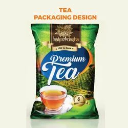 Cad Tea label and box packaging design, 400x400 Px
