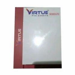 Transparent Plain Virtue PVC Ceiling Sheet, Size: 8 X 4 Inch