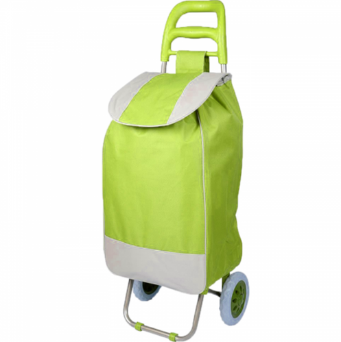 c044cb803d Two-Wheel Double Handle Two Color Bag Shopping Trolley