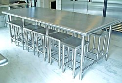 SS Canteen Table with Benches