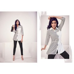 Ladies Designer Printed Cotton Top