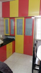 PVC Laminated Kitchen Trolley