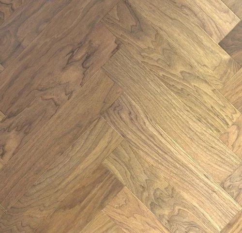 Herringbone Walnut Engineered Wood Flooring 13mm Rs 428 Square