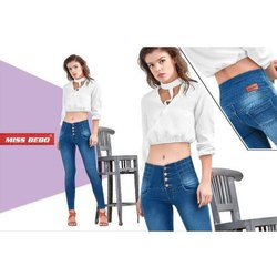 Ladies High Waist Stretchable Denim Jeans