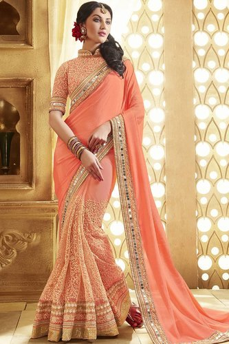 how to wear two piece saree