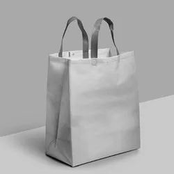 Plain Folding White Loop Handle Carry Bag for Shopping, Capacity: 10kg