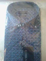 Blue Cotton Mens Shirts, Size: 42