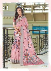 Designer Exclusive Digital Print Organza Saree for Women