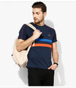 Nblue Striped Regular Fit Round Neck Tshirt