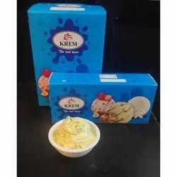 Krem Kesar Pista Ice Cream, 2 Months, Packaging Type: Box