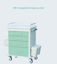 PVC MRI Compatible Emergency Cart, For Radiology, For Hospital