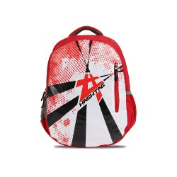 Hashtag Flash Polyester Red Travel/School/College/Casual/Laptop Backpack (30 L) (Red, White, Black)