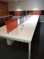 Plywood White Office Workstation