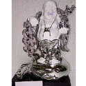 White And Silver Laughing Buddha