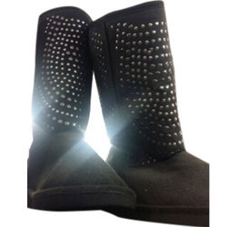 Women Black Long Ladies Boots, Packaging Type: Box