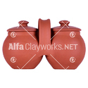 Terracotta Storing Pot with Lid