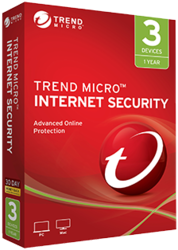 Trend Micro Internet Security 1 Year 3 PC