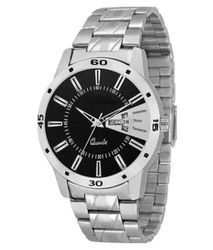 Boy Analogue Day and Date Black Dial Men's Watch