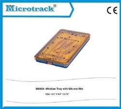 Medium Plastic Sterilization Tray with Silicon Pin Mat