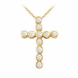 18k Yellow Gold Cheap Cross Pendant