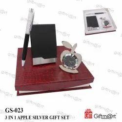 金属3在1苹果银礼品套装,促销礼品