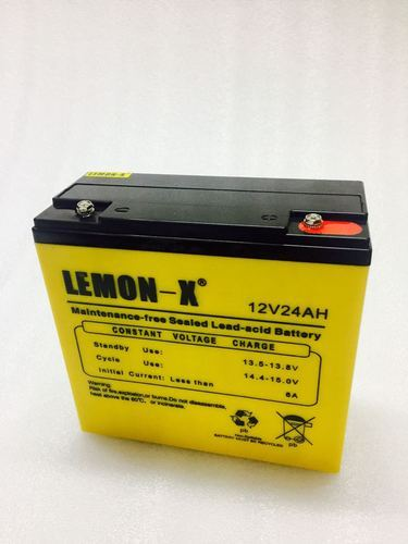 Lemon-X 12v 24AH E-Bike Battery, Capacity: 2ah(20 Hr)