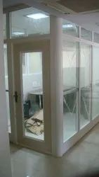 White Duroplast Office Partition, Frame Thickness: 65mm