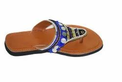 Women Ethnic Embroidery Faux Leather Kolhapuri Chappals