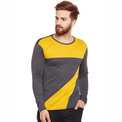 Mens Full Sleeves Multi-Color T-Shirt