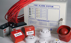 R.S. Enterprise 4 Alarm Panel With Smoke Detector
